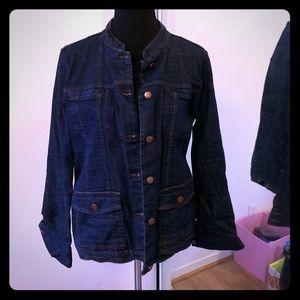 Eileen Fisher jeans jacket size L